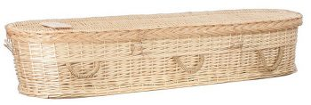 Wicker Basket coffin for green funeral