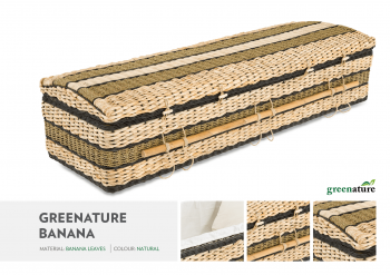 Natural Banana Green Wicker Casket