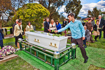 Dual-burial-service